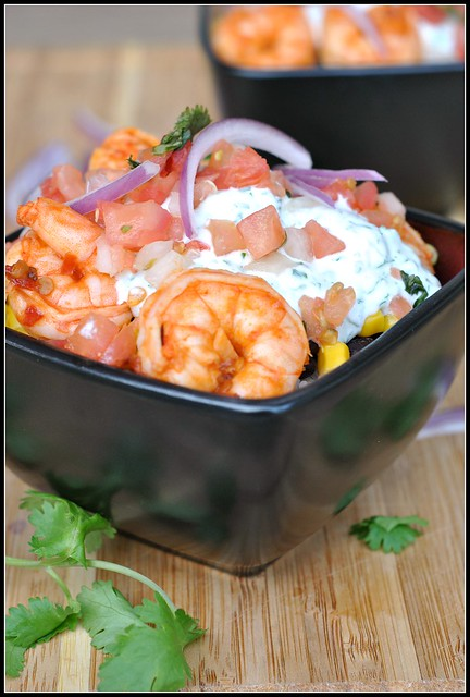 Chipotle Shrimp Bowls with Cilantro-Lime Cream Sauce 1