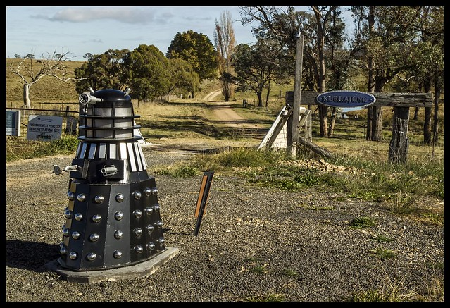 DALEK letter box by New England Highway-1=
