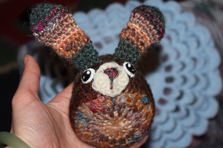 The Making of handspun easter bunny