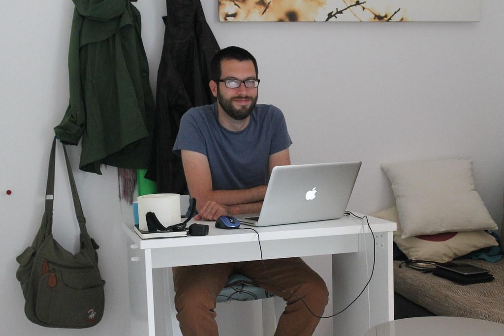 Steve at his programming.