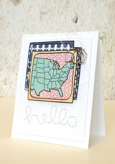 hello (us map picture) card - ls2