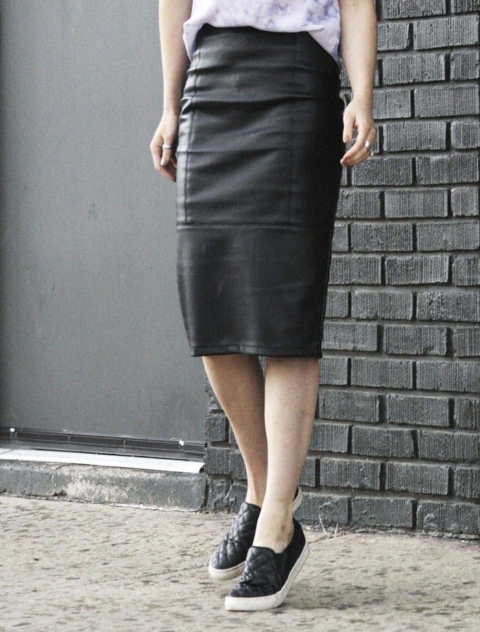 leather pencil skirt - modern fashion trends street style fringe of the cro