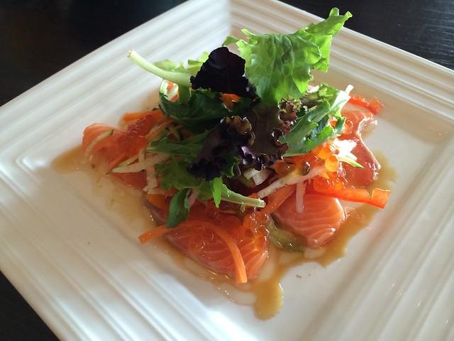 Salmon carpaccio - Izakaya Roku
