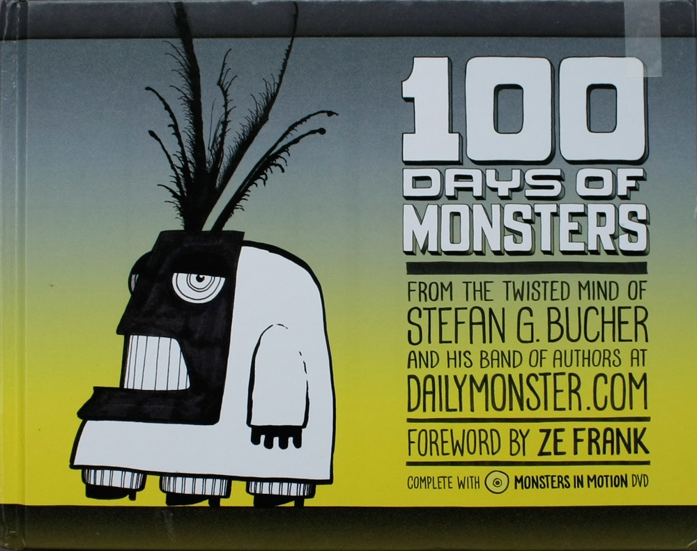 Cover of 100 Days of Monsters, written, designed and illustrated by Stefan G. Bucher.
