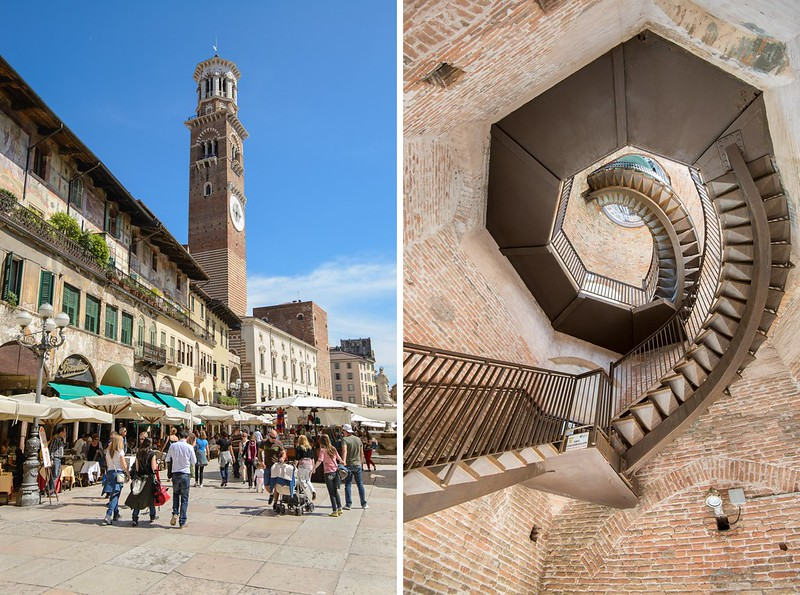 Lamberti tower in Verona, Stairs