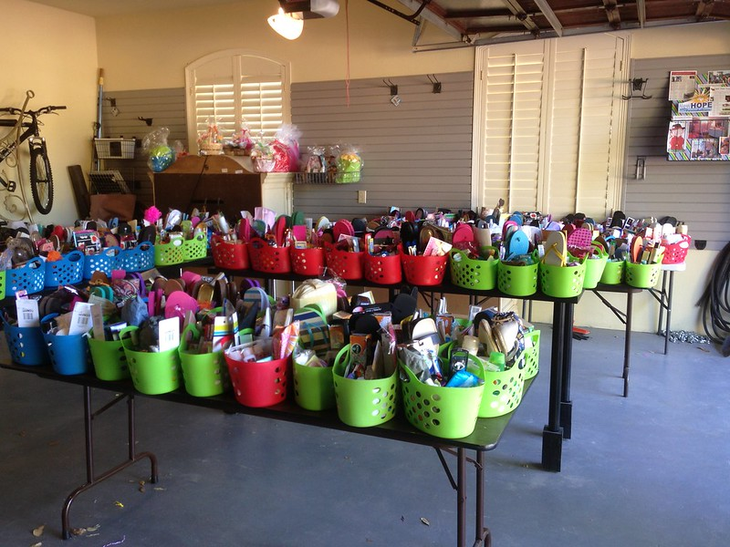 Thanks to our amazing volunteers and donors, we collected 343 Mother's Day Baskets for 2014!