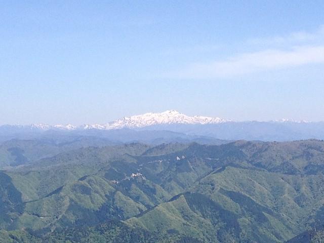 高賀山 山頂からの眺望 白山