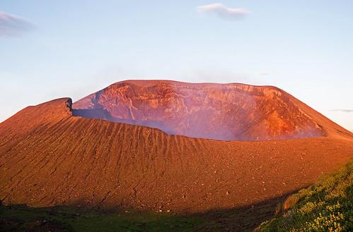 travel sky cloud sun eye set sunrise volcano lava crater nicaragua centralamerica volcan telica