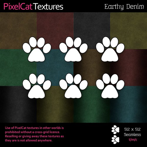 PixelCat Textures - Earthy Denim