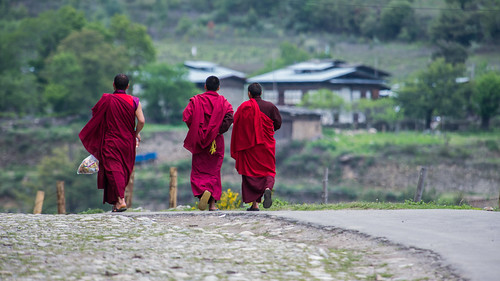 Monks on a stroll