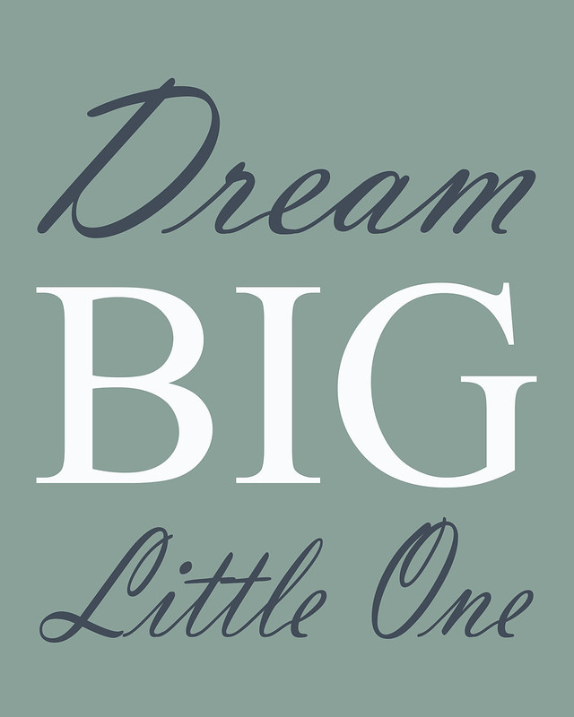 dream big, dream, nursery, wall art