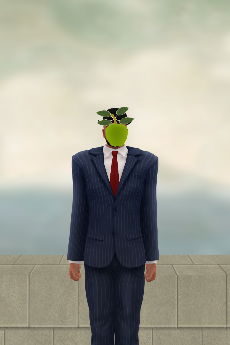 Whose son? (inspired on Magritte's