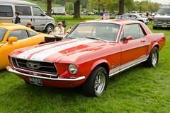 automobile, automotive exterior, vehicle, first generation ford mustang, ford, antique car, classic car, land vehicle, muscle car, sports car,