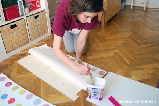 Haz tu propio biombo mi reto para el 25 aniversario de - Como poner papel pintado leroy merlin ...