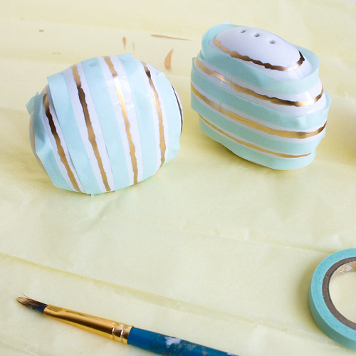 DIY Gold Striped Salt & Pepper Shakers