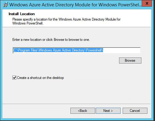 Mise en uvre microsoft azure active directory avec f d ration partie 4 installation outil - Installer console active directory windows 7 ...