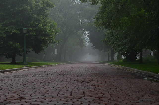 Fog at the end of the road