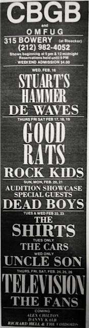 CBGB 2-16-77