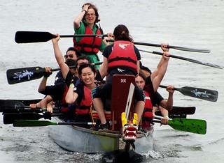Winning the race @ Royal Albert Dock 29-06-14