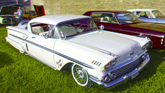 automobile, automotive exterior, vehicle, automotive design, antique car, chevrolet bel air, sedan, land vehicle, luxury vehicle,