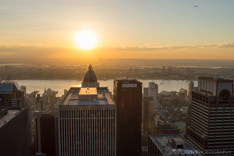 Sunset on Hudson River from Top of the Rock