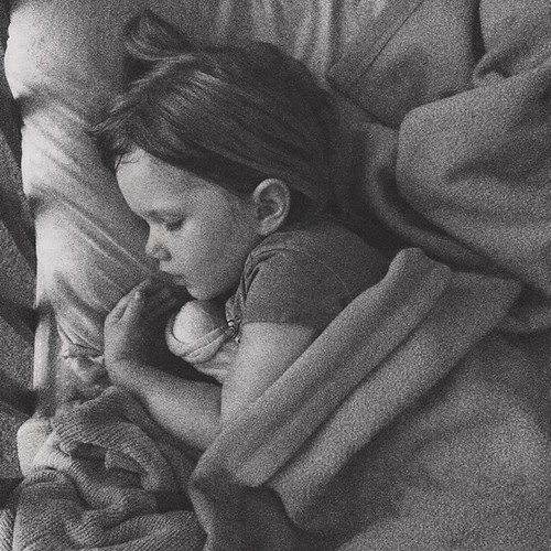 Peace, finally. Some days, naptime is rough business. #mommyhood #eisleygirl