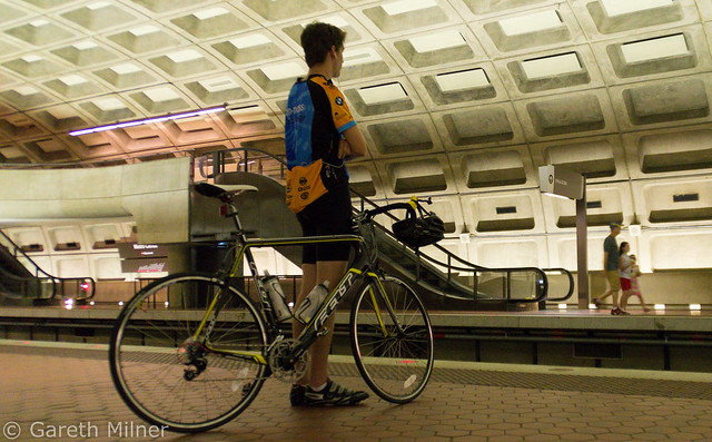 Man with Bike - Metro Center