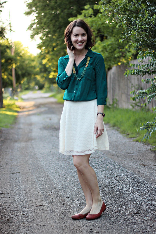 lace-skirt-green-button-down-3