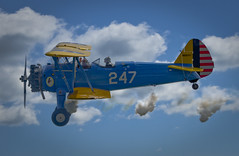 aerobatics, aviation, biplane, airplane, wing, vehicle, boeing-stearman model 75, air racing, general aviation, flight, air force, air show,