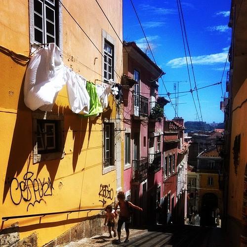 Down the street, Lisbon. #portugal