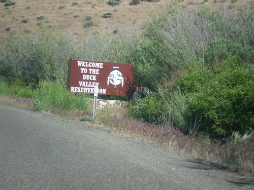 sign nevada elkocounty nv225 duckvalleyindianreservation