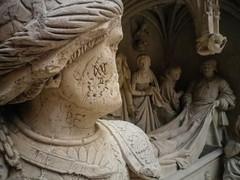 Defaced roman soldier