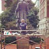 Mr. Jefferson's getting a bit of a touch-up! #columbia #journalism #cuj15 #publicart #artconservation