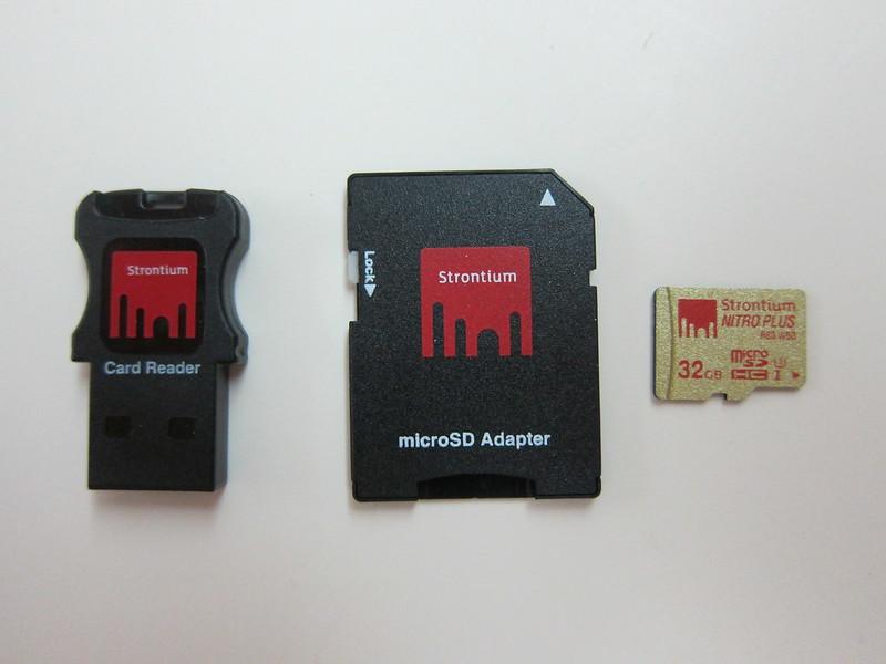 Strontium Nitro Plus MicroSDHC UHS-1 Card - Packaging Contents