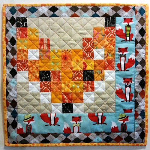 Foxy for the schnitzel & boo mini quilt swap!