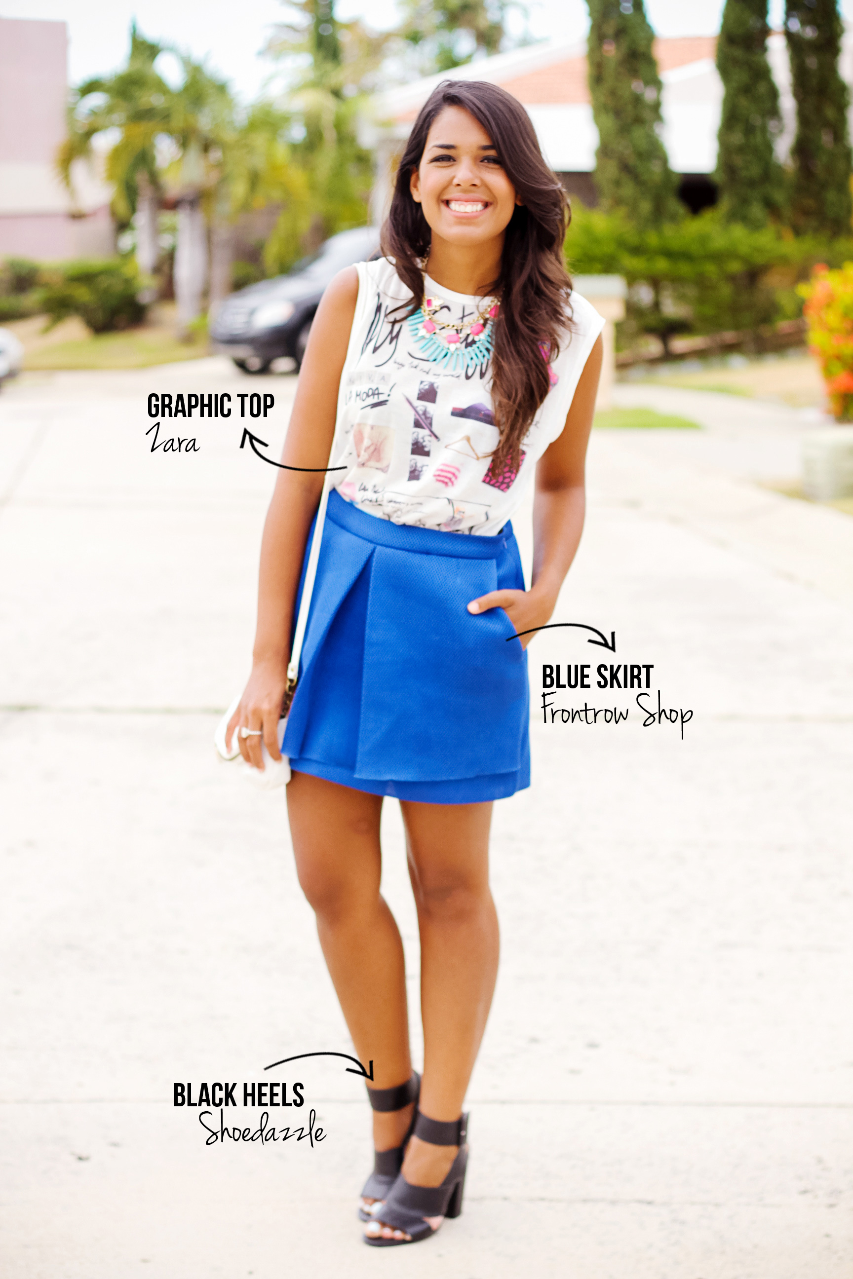 Deep Blue Envelope Skirt - Frontrow Shop