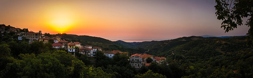 sea panorama sunrise golden village aegean hellas tokina greece 1224mm