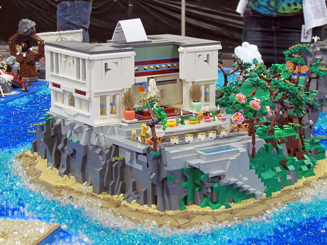 Circe's island. VirtuaLUG's Odyssey display. Brickworld 2014