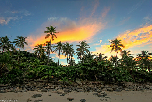 beach fiji sunrise canon landscape island scenic matamanoa onne
