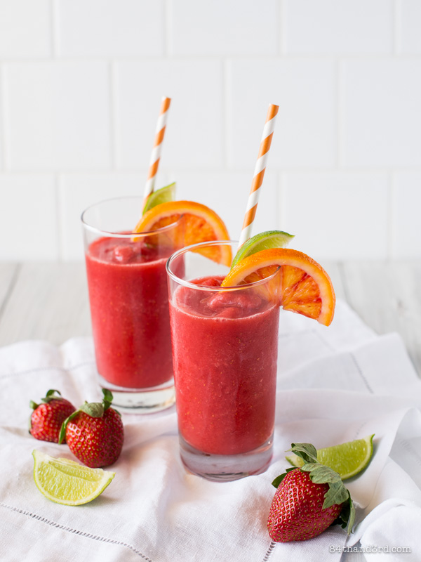 Strawberry & Blood Orange Frozen Margarita