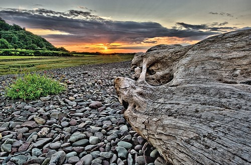 sunset beach pentax somerset pebbles driftwood porlockweir k20d sigma816mm