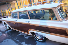 edsel ranger(0.0), sedan(0.0), automobile(1.0), automotive exterior(1.0), vehicle(1.0), ford ranch wagon(1.0), antique car(1.0), classic car(1.0), vintage car(1.0), land vehicle(1.0), luxury vehicle(1.0),