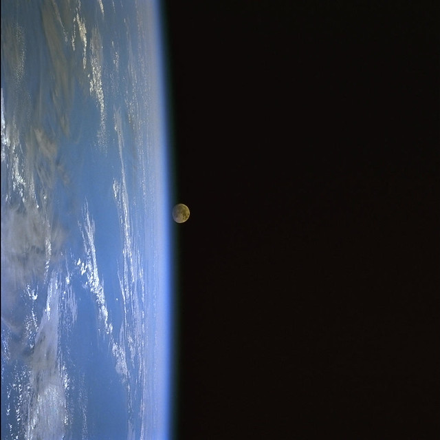 Archive: Moonrise Over Earth (Archive: NASA, Space Shuttle, 12/99)