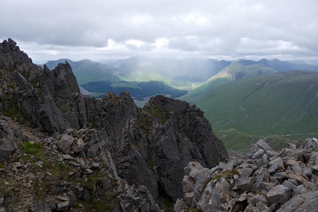 Pinnacles on Ben Starav's east top