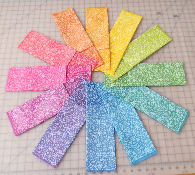 Snowflake Fabrics 2 Shades of 12 Colors