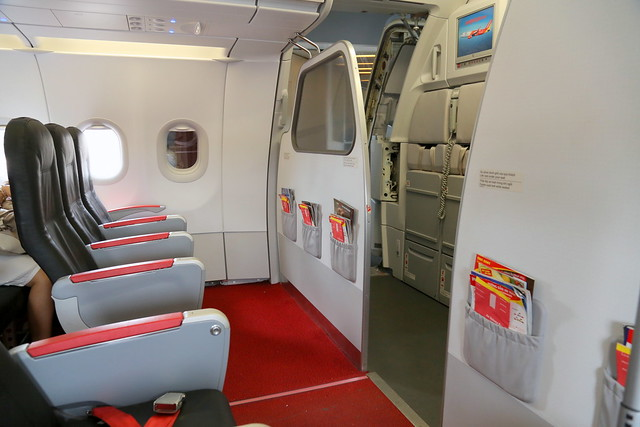 VietJet plane with extra legroom in front for premium fare passengers