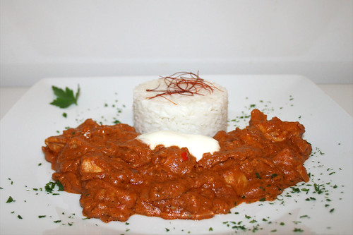 60 - Murgh Makhani - Indisches Butterhuhn - Seitenansicht / Indian butter chicken - Side view