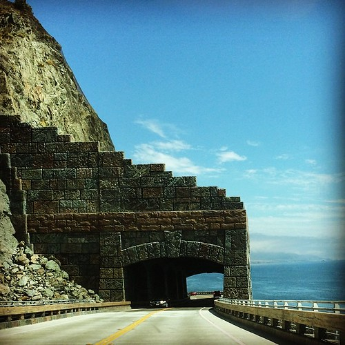 Just a pretty stone tunnel on the side of a mountain on the edge of a cliff. You know, the usual. #highway1 #kategoestocalifornia