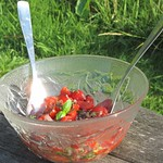 Rezepte von Nigel Slater©Tomato salad with warm basil dressing from Nigel Slater (1)