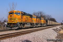 BNSF 9956 | EMD SD70MAC | BNSF Thayer South Subdivision